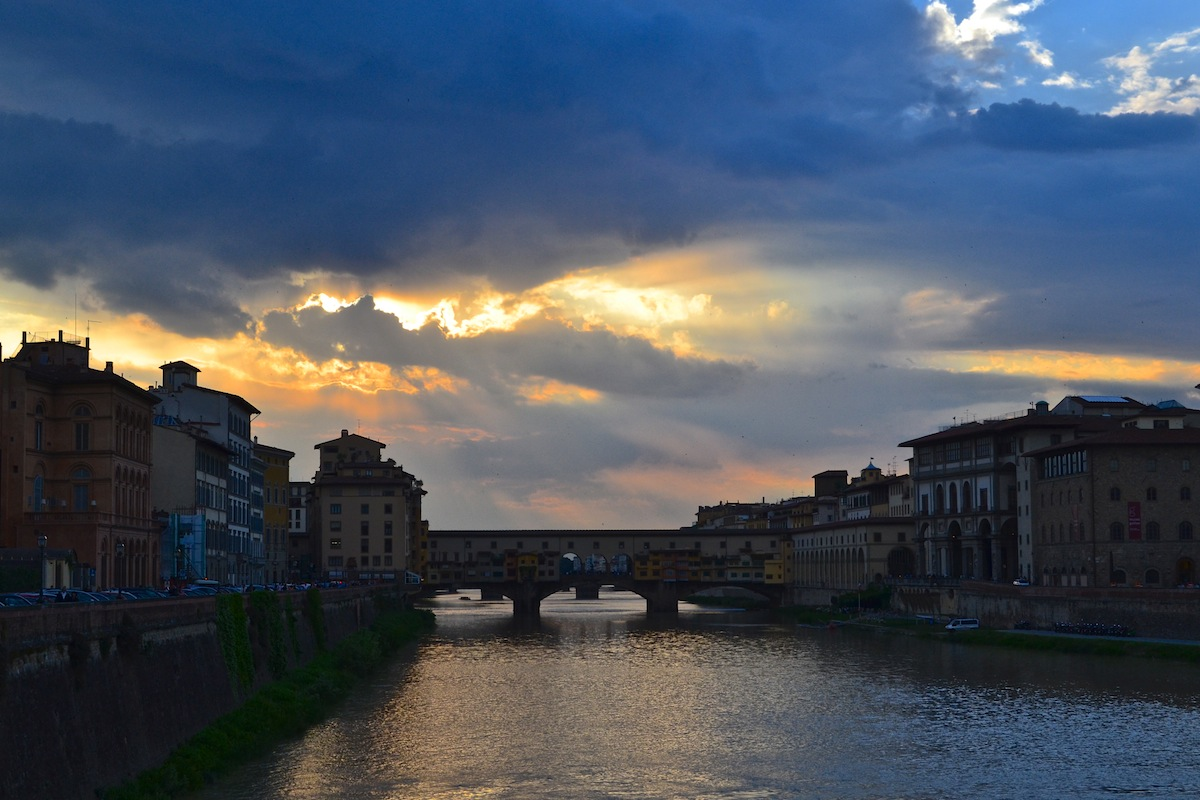 Sunset Over The Ponte Vechhio